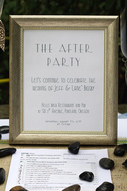 After Party Sign To Let Those Guests Who Want Continue The Celebration Know Where You Wedding EventsWedding ReceptionWedding