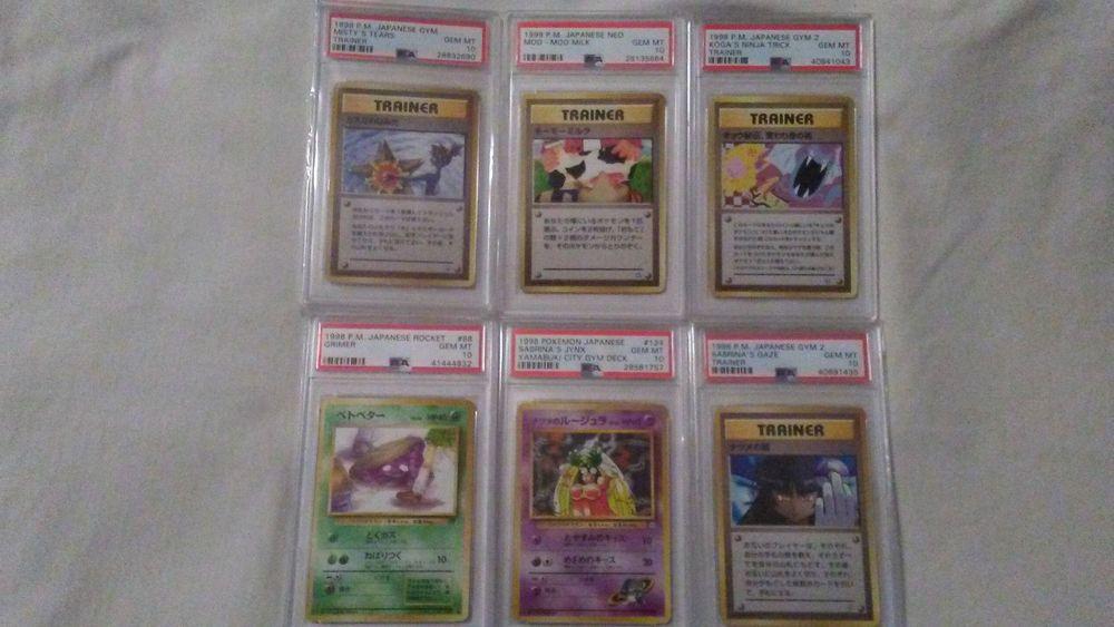 All 6 pokemon japanese set error banned cards all psa