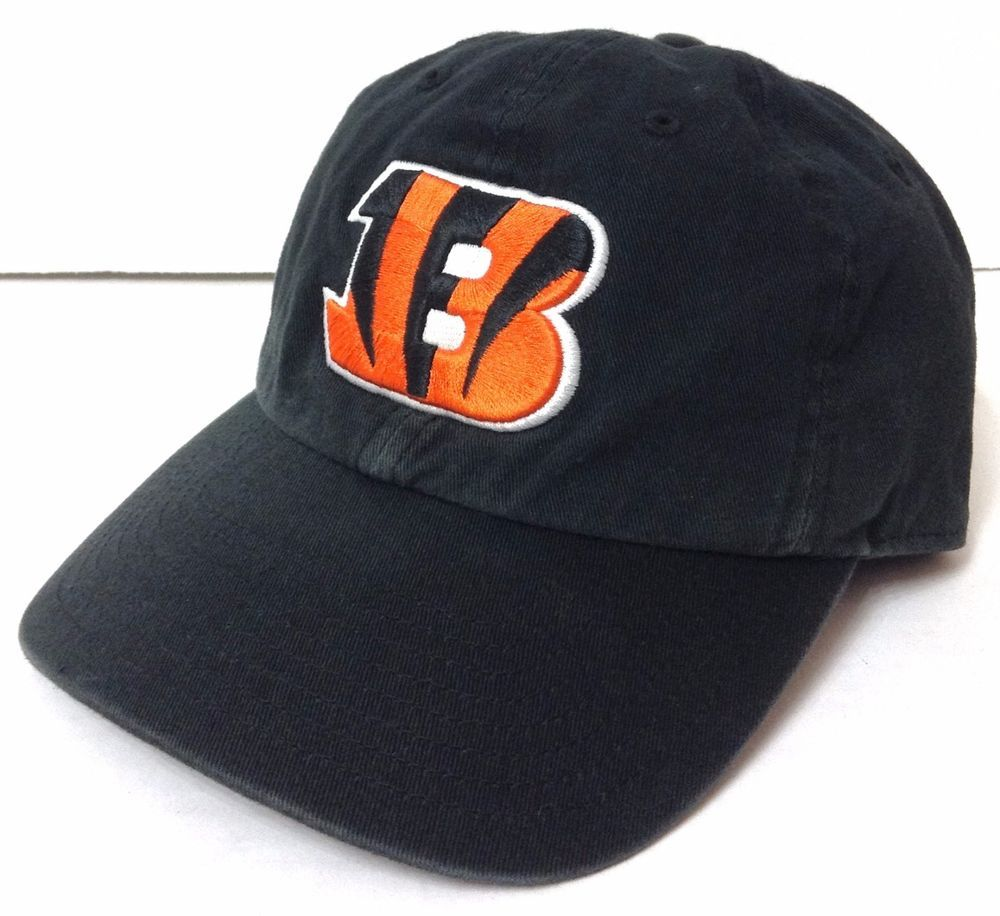 da7f286aa44 vtg-faded-look CINCINNATI BENGALS HAT B-Logo Black Relaxed-Fit Cotton Men  Women  47Brand  CincinnatiBengals