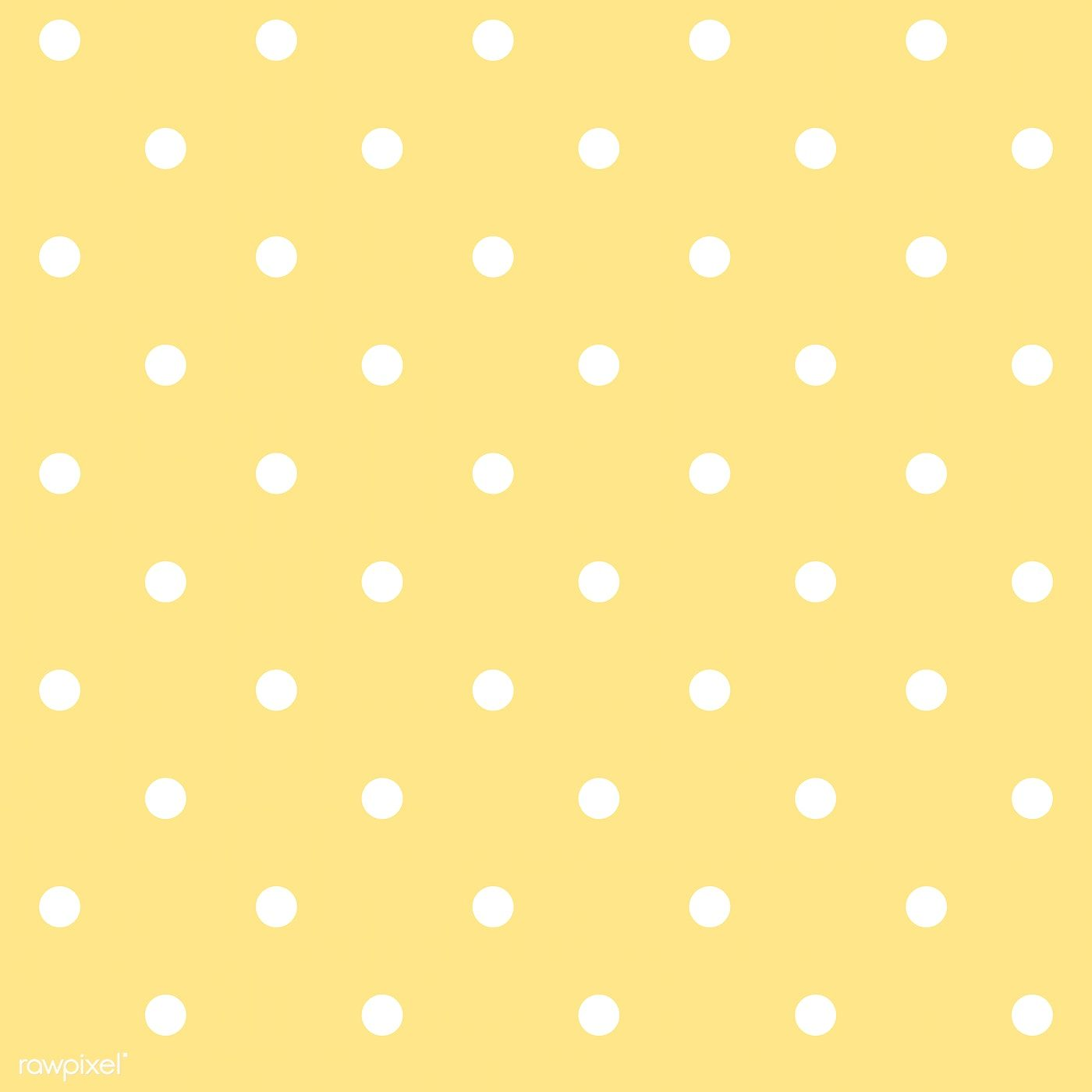 Yellow And White Seamless Polka Dot Pattern Vector Free Image By Rawpixel Com Filmful Polka Dots Wallpaper Dot Pattern Vector Polka Dot Pattern