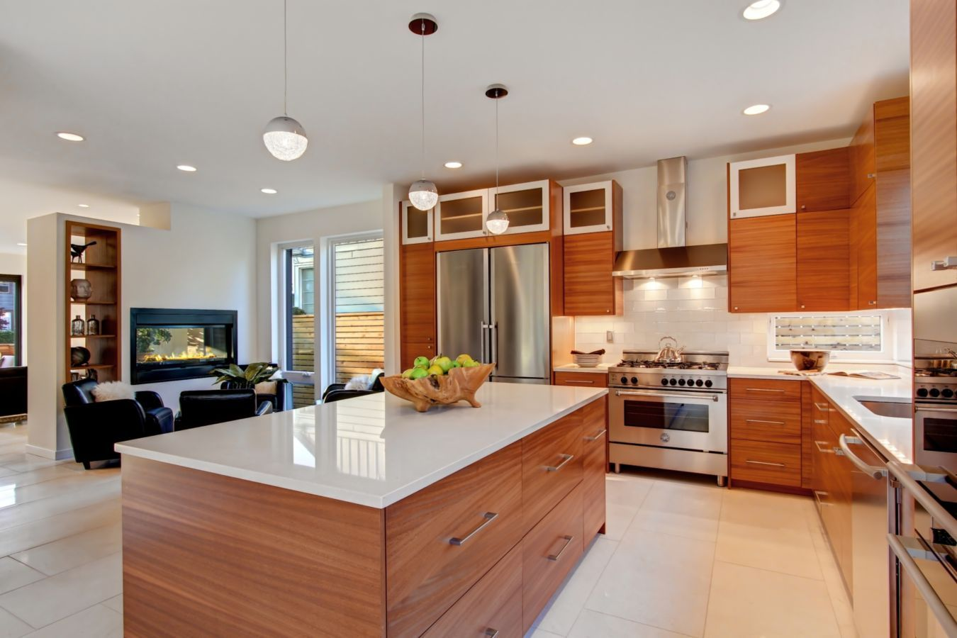 Clean, Sleek Lines Define This Kitchen Completed By Isola Homes. #luxePNW