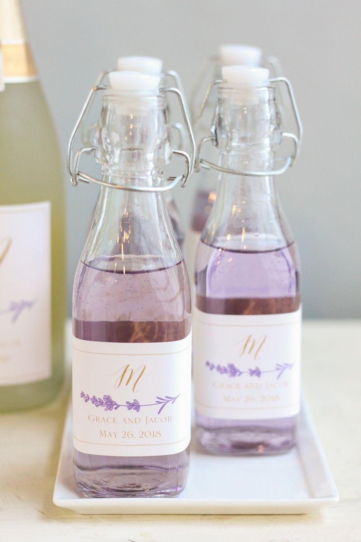 DIY Wedding Favor: Lavender Syrup in Personalized Bottles | Lavender ...