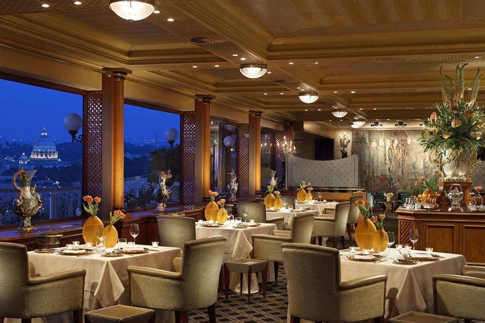 La pergola Best restaurants in rome, Luxury restaurant