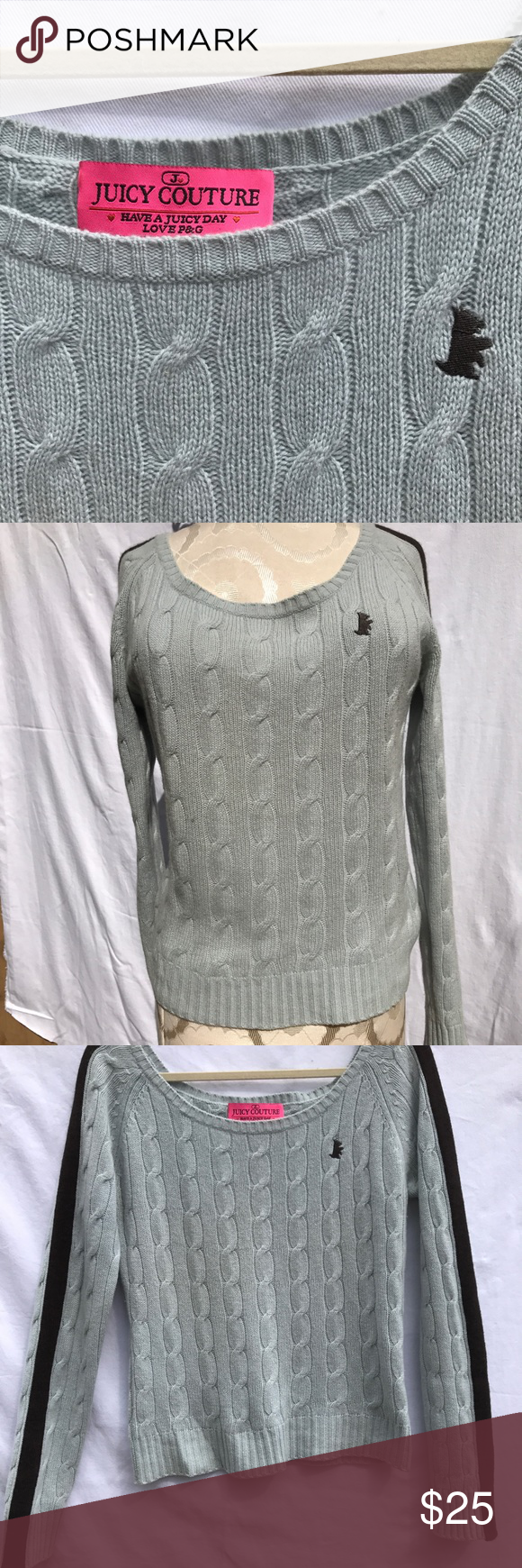 Juicy Couture cashmere sweater size L Juicy Couture baby blue ...