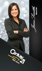 Vertical realtor century 21 business cards century 21 business century 21 business cards online design and printing services for century 21 real estate agents accmission Gallery