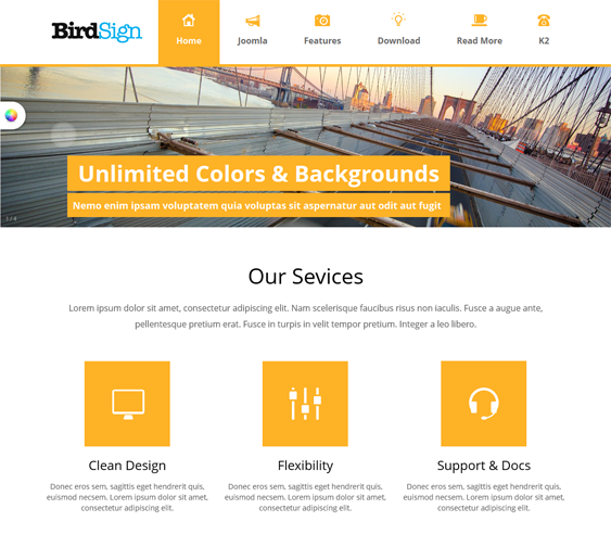 This free professional Joomla template features a responsive layout ...