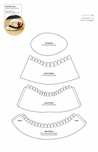 Paper Crafting: Free Paper Hat Pattern (Could Also Be Made