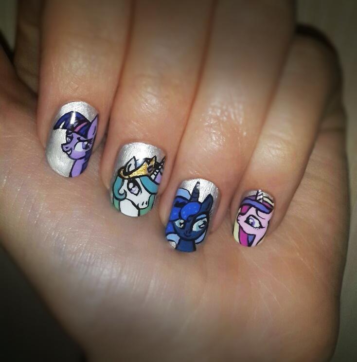 little pony nail art lane