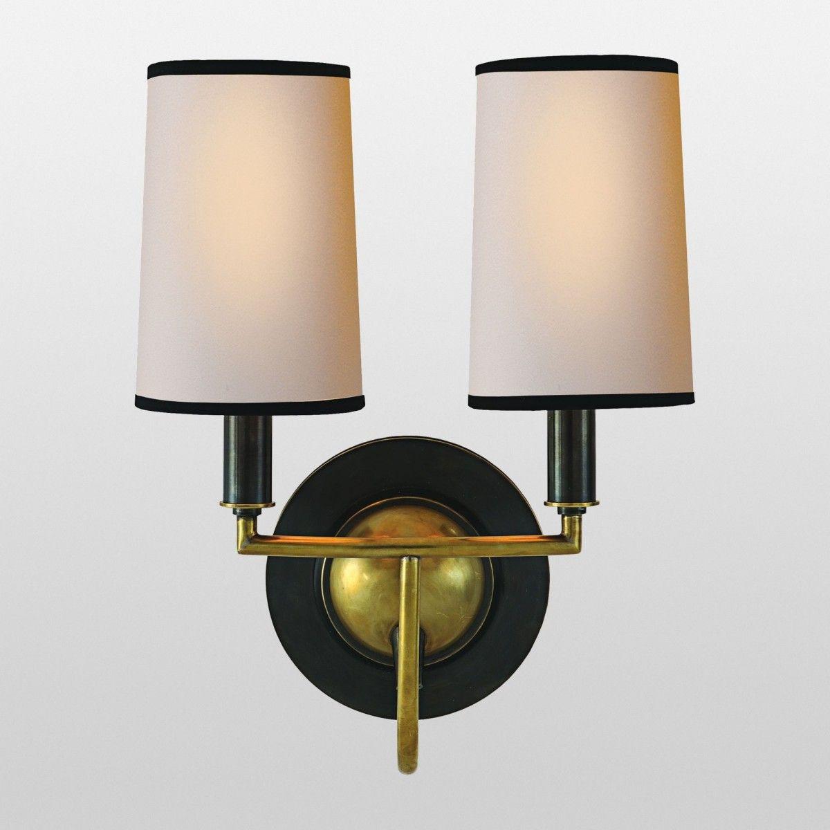 Elkins Sconce Double Wall Lights Visual Comfort Lighting Visual Comfort