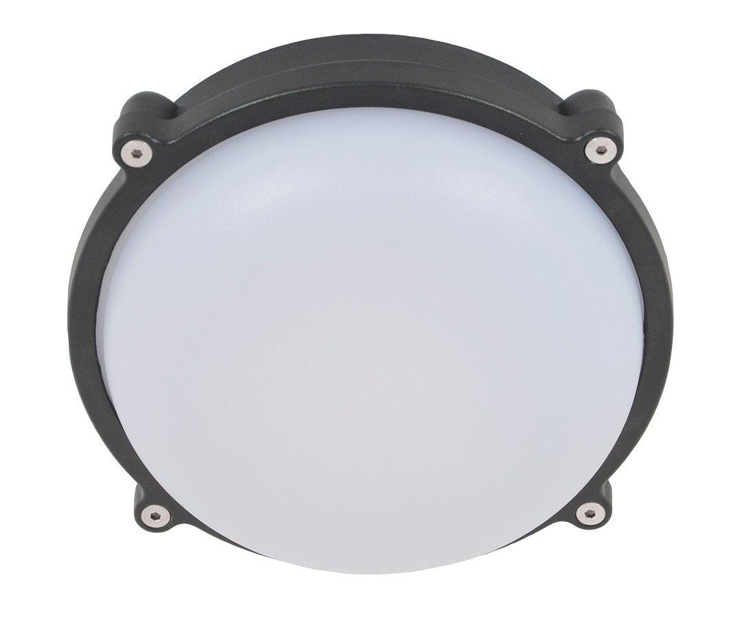 LEDlux Bounty LED Medium Round Bunker in Black