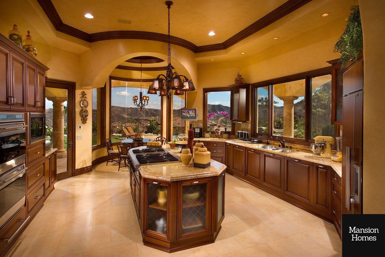 Mega mansions dream homes celebrity houses mansions for Kitchen ideas real estate