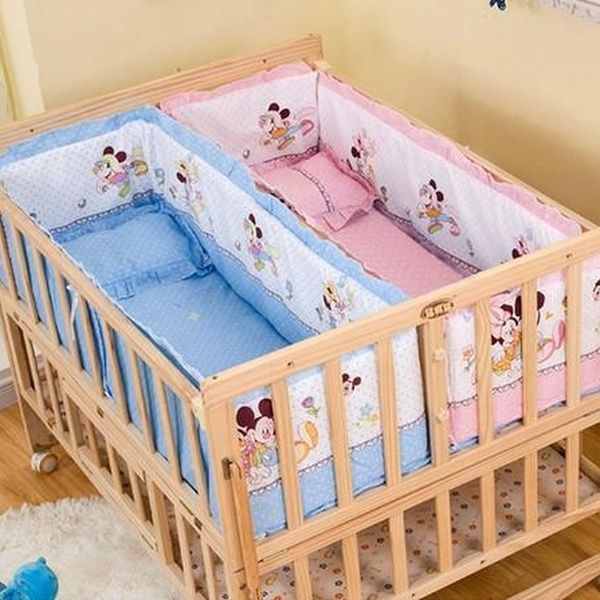 Solid Wood Twins Baby Cots Wish Twin Babies Twin Baby Rooms Twin Baby Beds