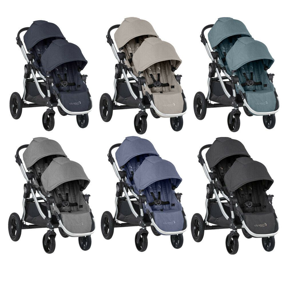 Details About Baby Jogger 2020 City Select Double Twin Tandem Stroller With Second Seat New Baby Jogger City Mini City Select Double Stroller Tandem Stroller