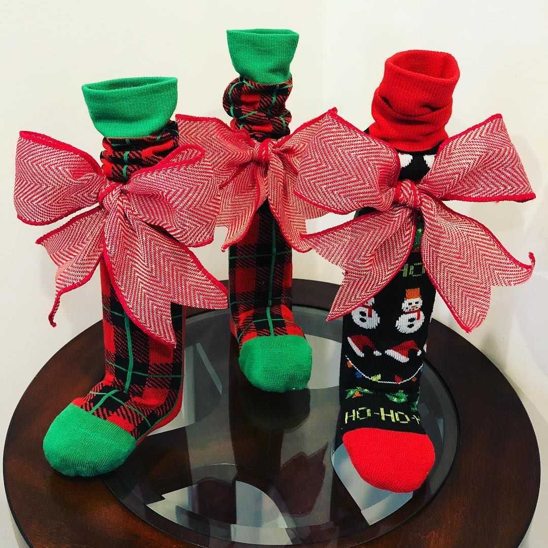 Transform A Bottle Of Wine Into A Festive Gift With These Wrapping Ideas In 2020 Wine Bottle Crafts Christmas Christmas Wine Bottles Wine Bottle Gift