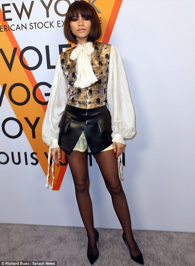 Bob and weave: Zendaya opted to wear a trendy new haircut to a a Louis