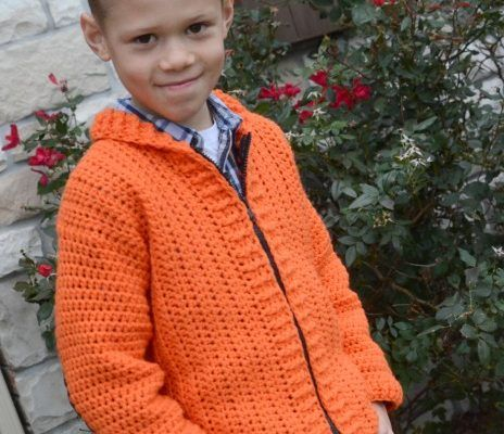 Cozy Kids Cardigan Free Crochet Pattern Size 6/8