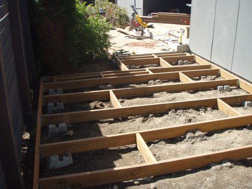 Low Profile Deck Construction For Back Corner Around Water Feature Deck Designs Backyard Deck Design Landscaping Around Deck