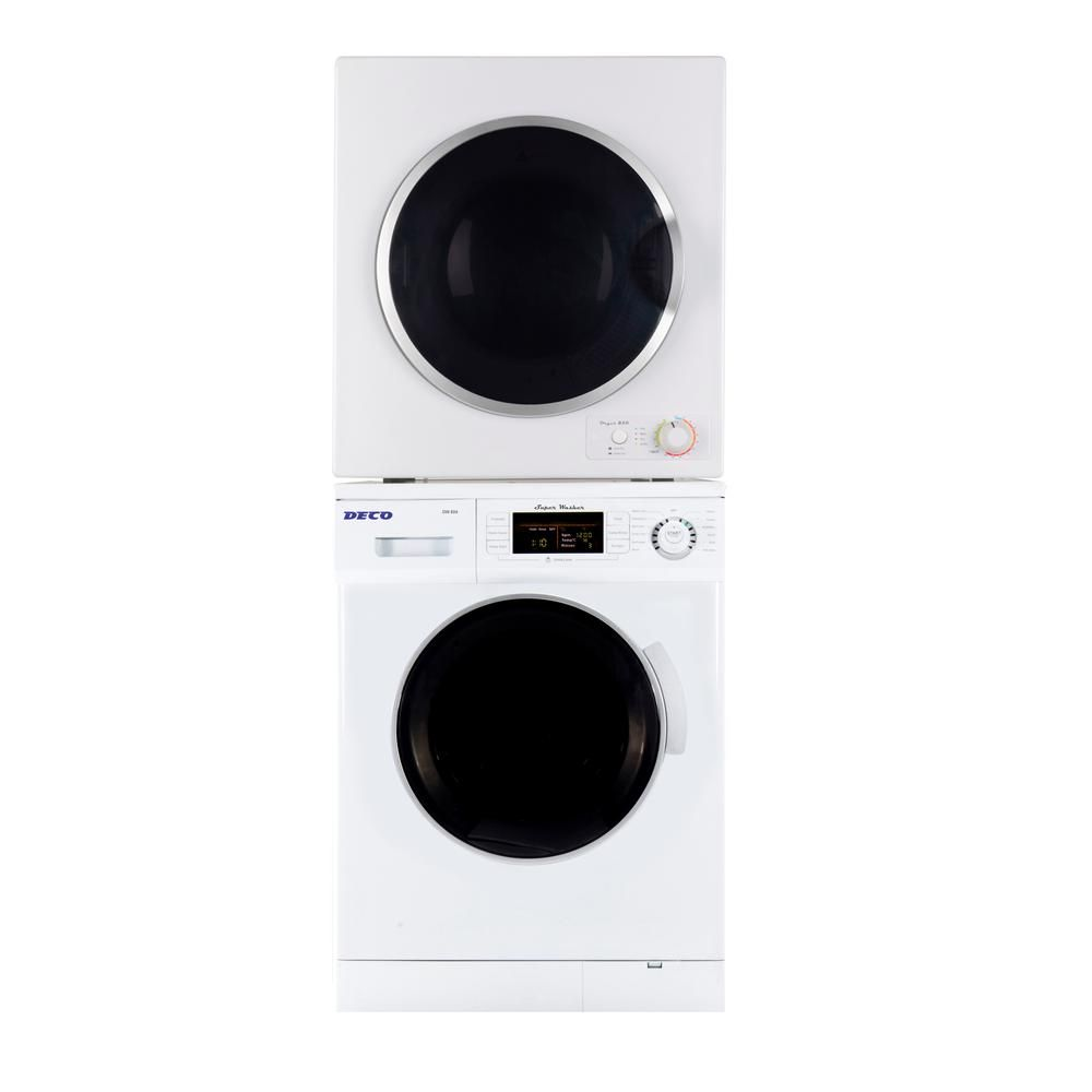 Deco White Laundry Center With 1 6 Cu Ft Washer And 3 5 Cu Ft