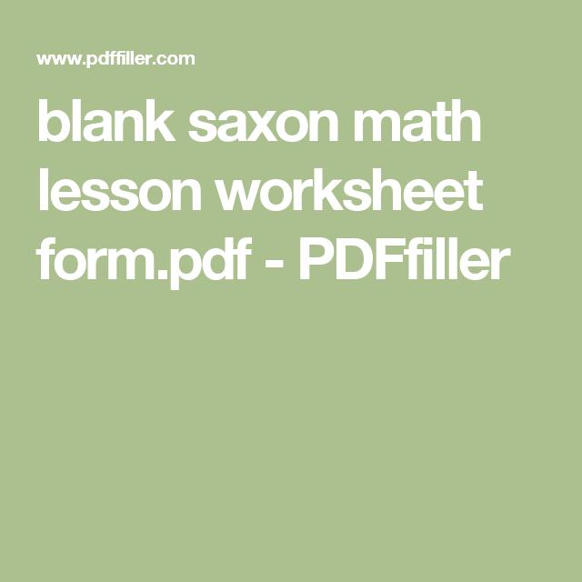 Saxon math homework help online