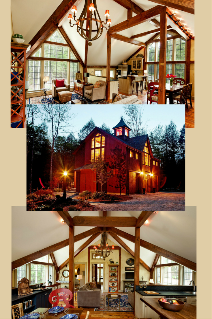 Bennington carriage house small barns post and beam and for Post and beam carriage house plans