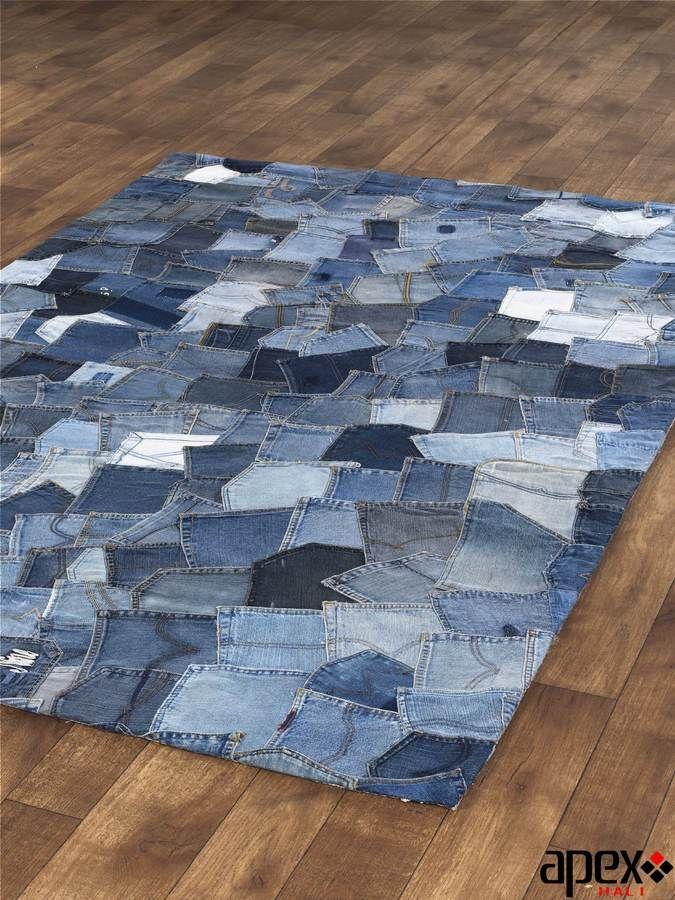 Jean Carpet Denim Rug Blue Jean Quilts Denim Crafts