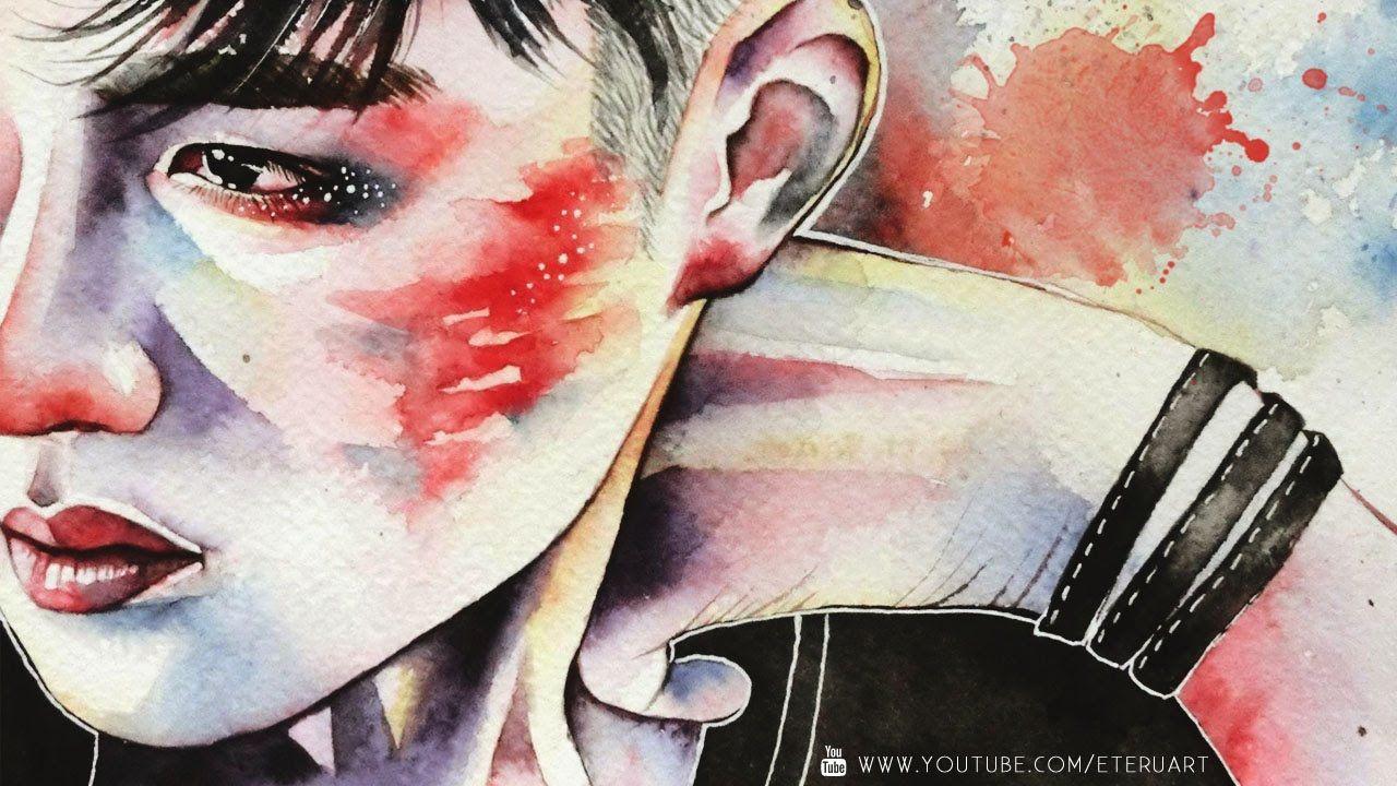 D.O Kyungsoo 디오 경수 ( EXO 엑소 ) Watercolor Portrait - Process Film【eteru】