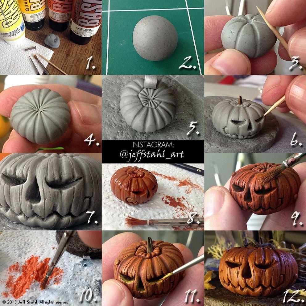 TUTORIAL : clay pumpkin by JeffStahl.deviantart.com on @deviantART