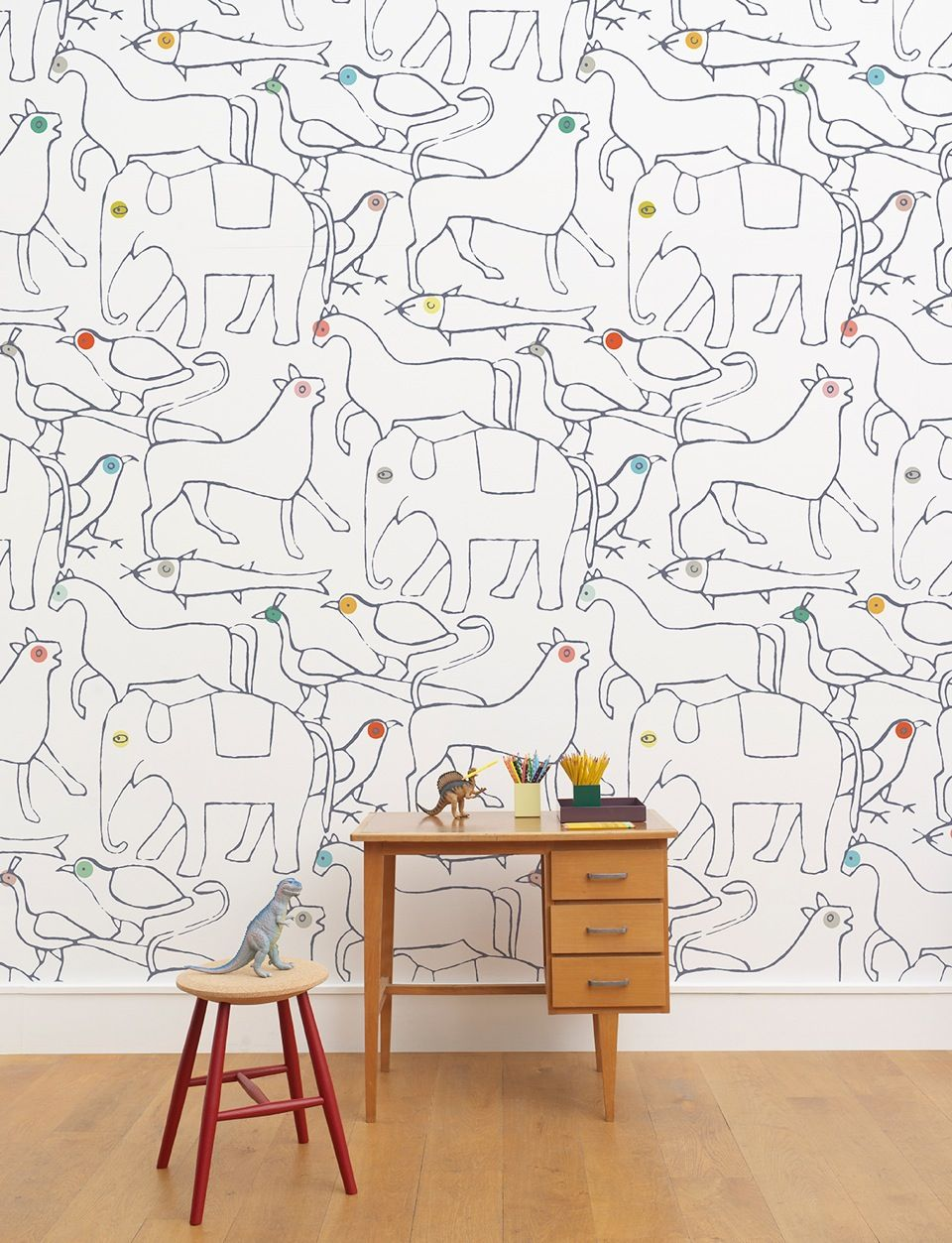 ANIMALS wallpaper by MINAKANILAB www.minakanilab.com Retailer : Maison M - Paris #maisonM #minakani #wallpaper