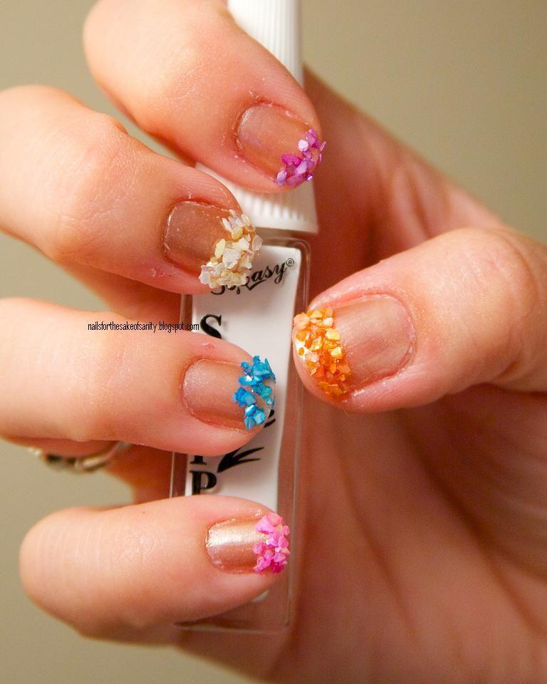 Seashell Nails Crushed Chips From A Cina Nail Art Kit Nails Seashell Nails Nail Art Kit