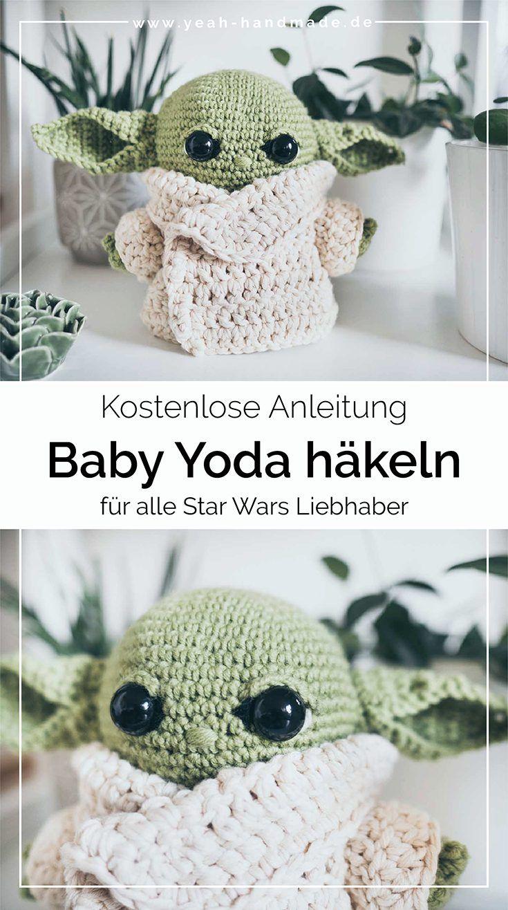 DIY Baby Yoda häkeln - kostenlose Anleitung • Yeah Handmade