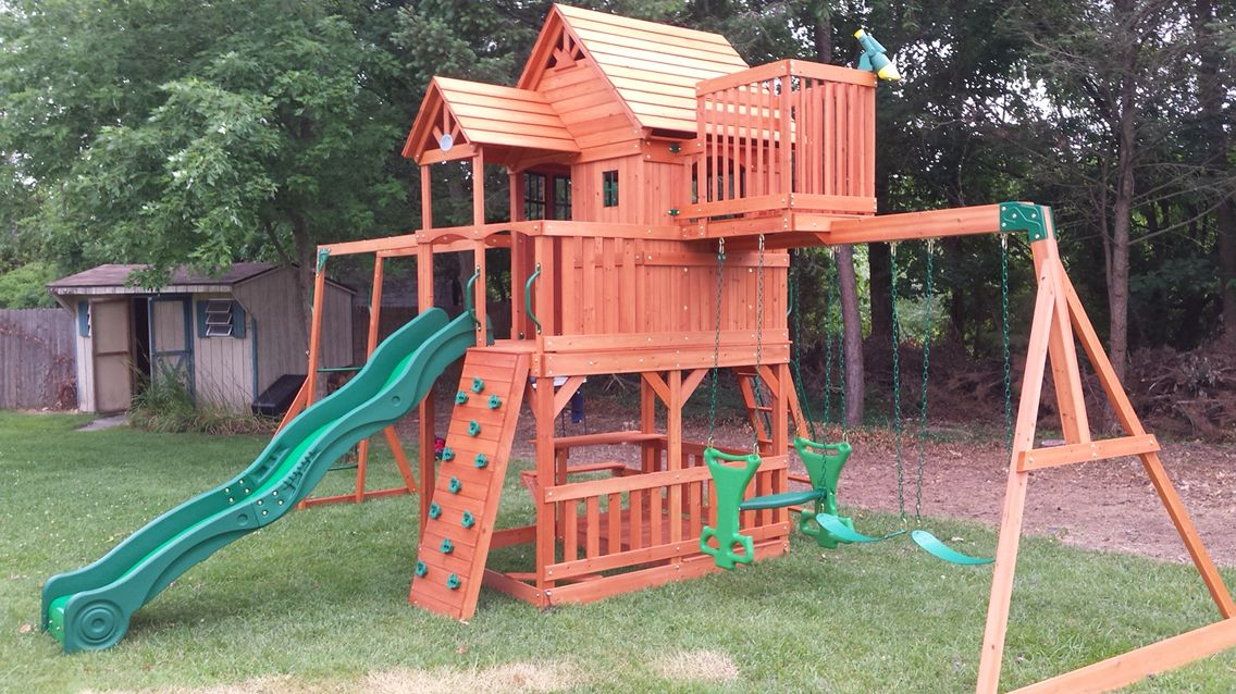 Beautiful Backyard Play Gym