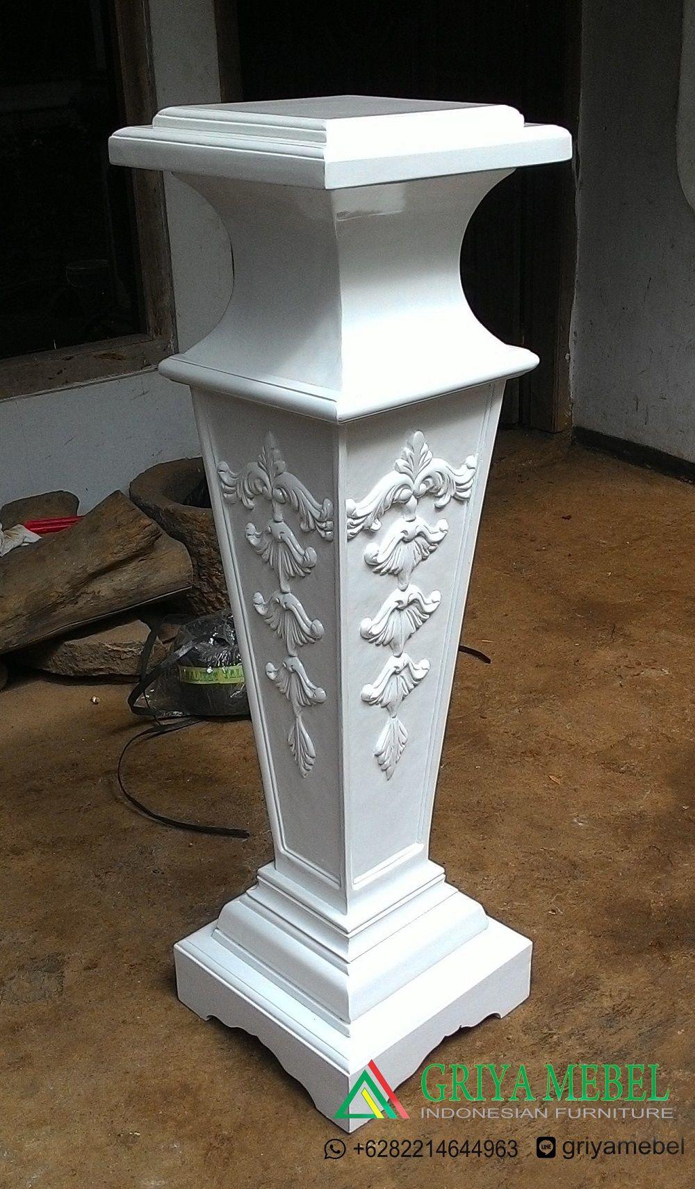 griyamebel.com product standing-flower-cube-duco-putih