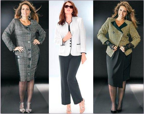 49f60a81cad Одежда для полных женщин  Деловой костюм (Фото)