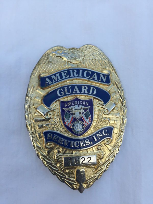 American Guard Services Badge | Security Badges and Patches