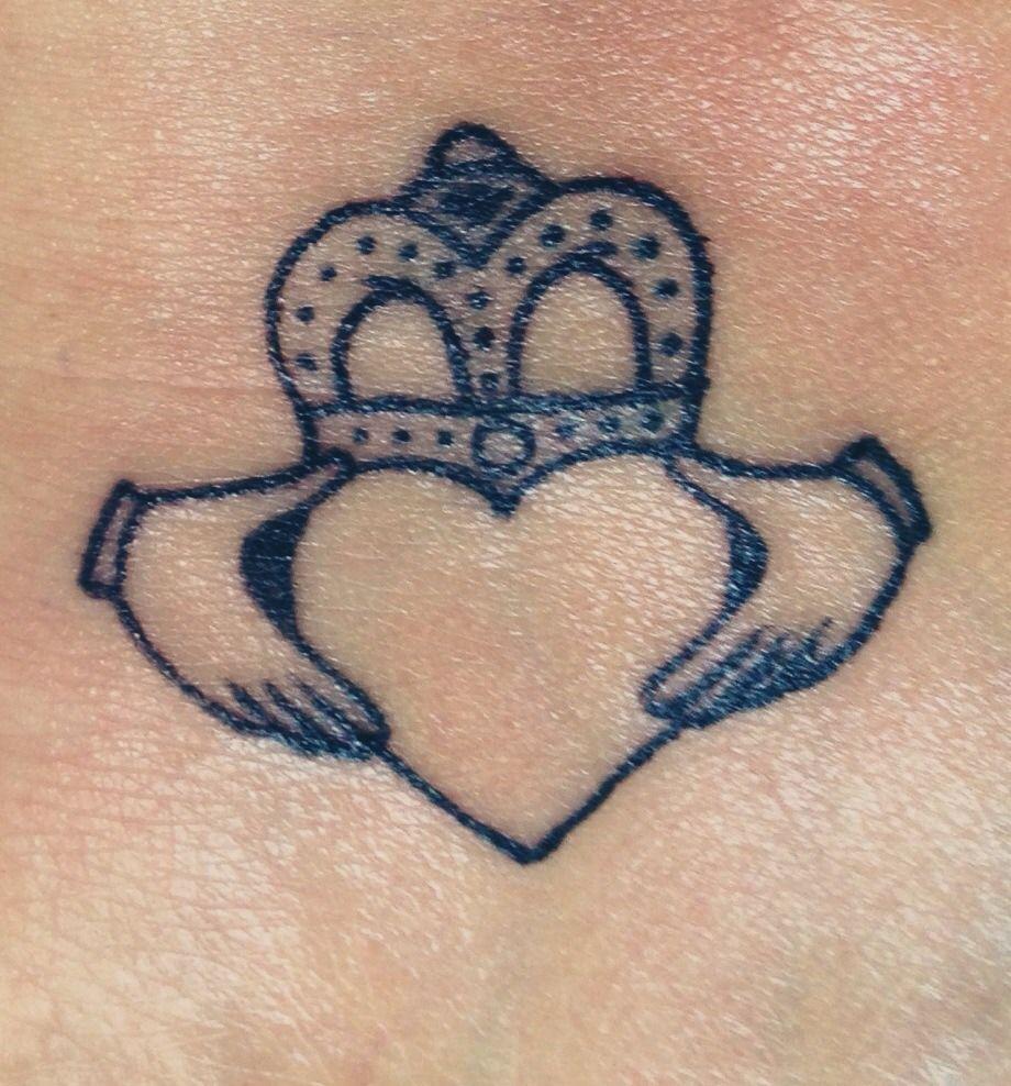 Irish Tattoo Ideas Siblings: Me & My Sisters Matching Claddagh Tattoo.