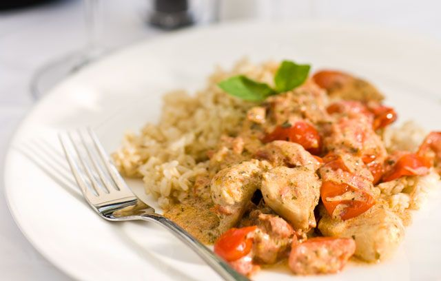 Chicken With Crme Frache And Cherry Tomatoes Recipe In 2018