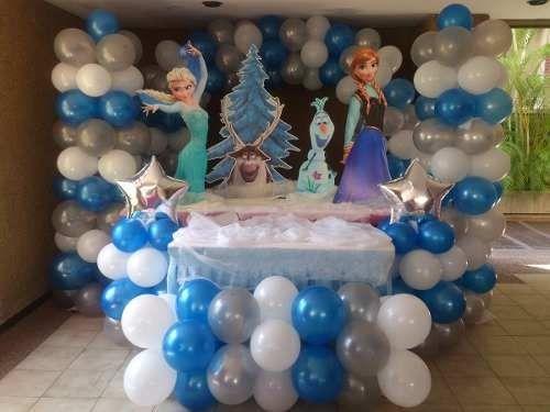 Frozen decoration balloon decorations pinterest for Frozen balloon ideas