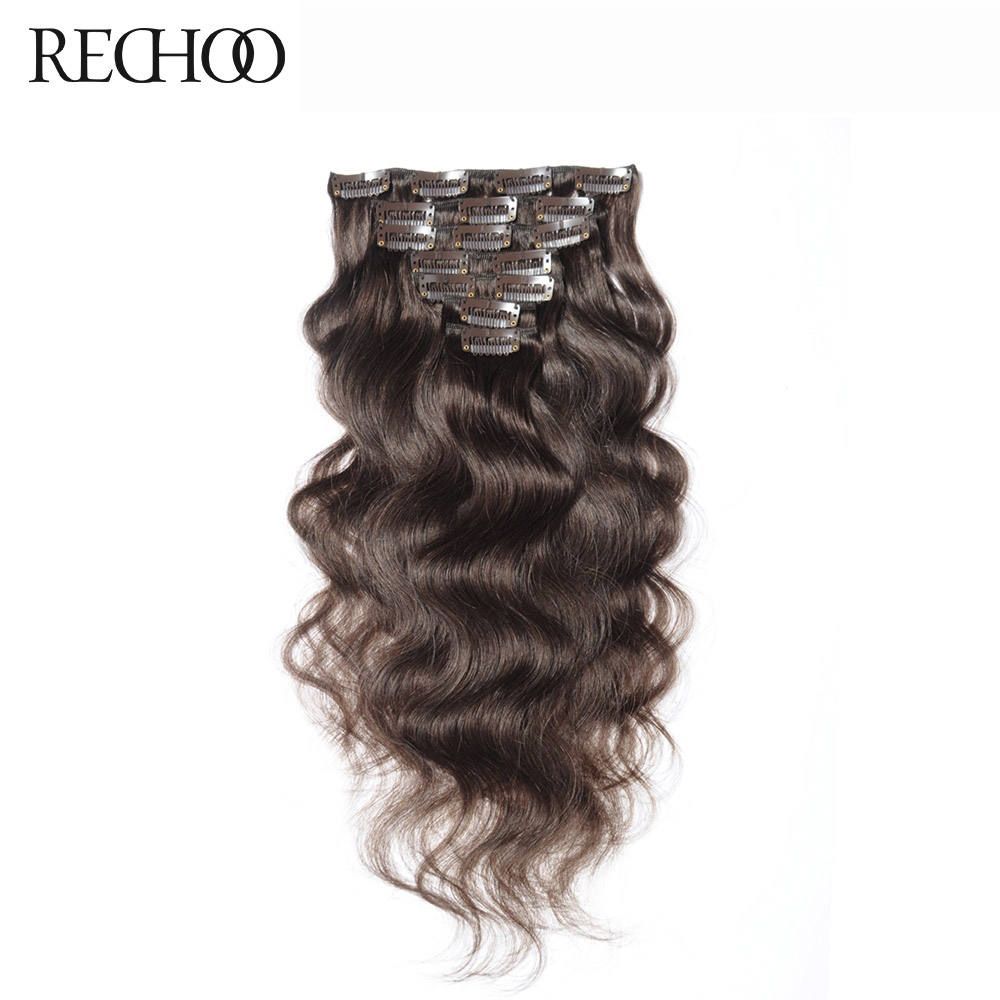 watch more here rechoo body wave human hair clip in