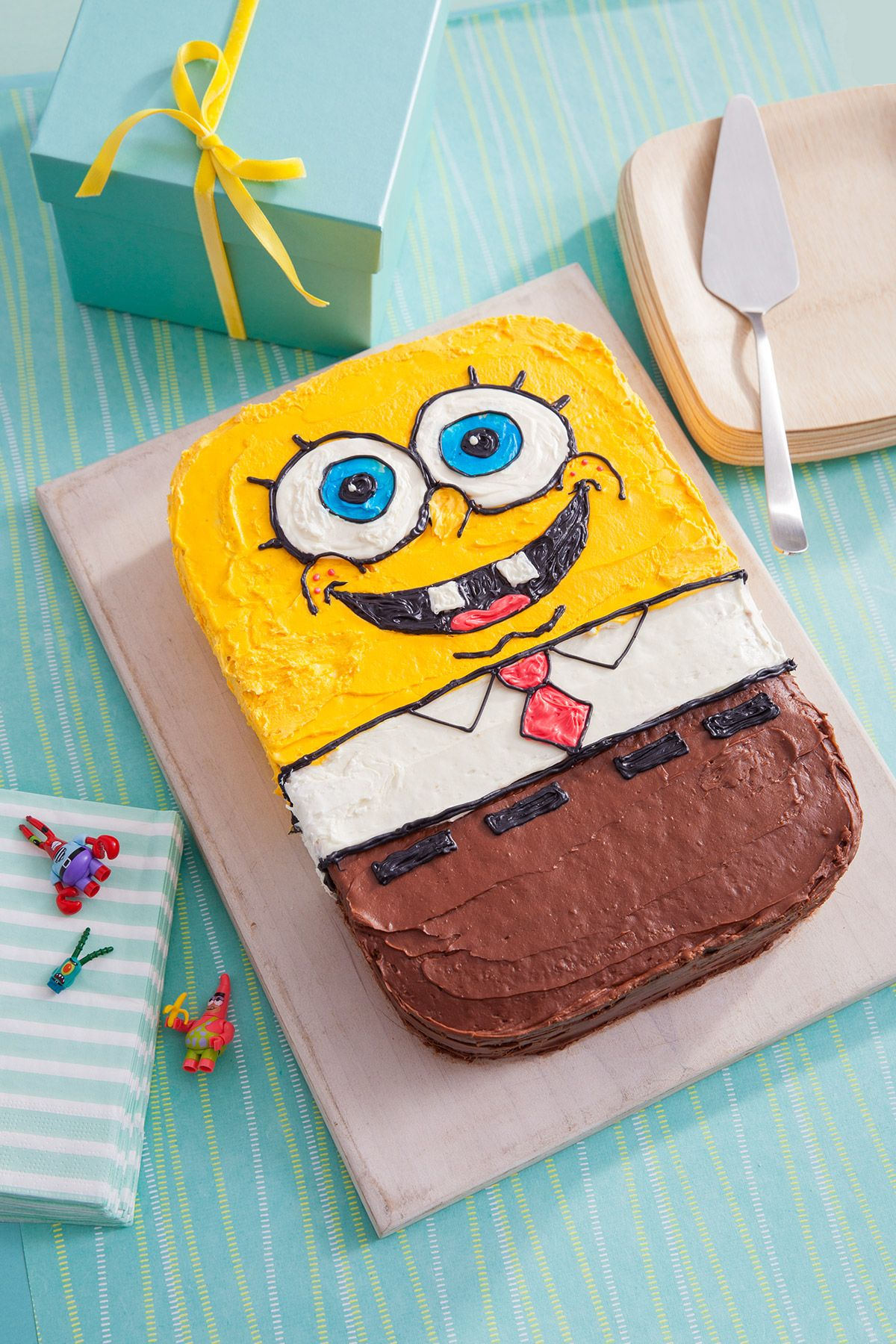 spongebob birthday cake recipe