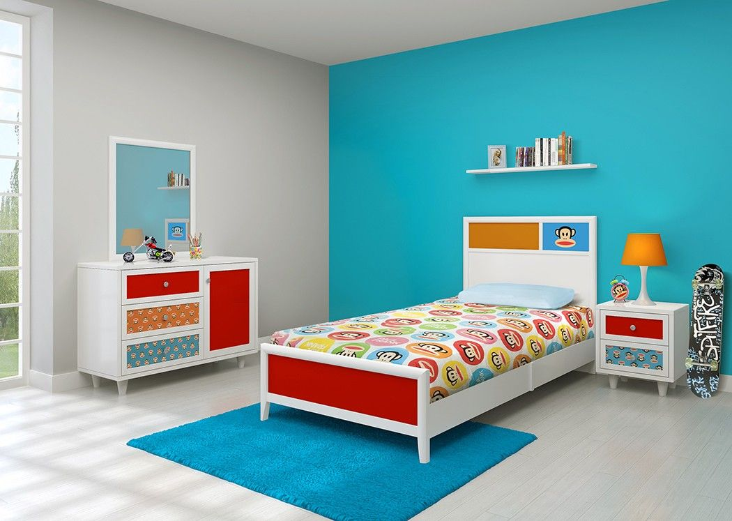 Delightful Paul Frank® Bedroom In A Box Colorful And Exuberant, The Julius Bedroom Set  Is Perfect For Your Little Monkey. The Bright Prints And Solids On The  White ...