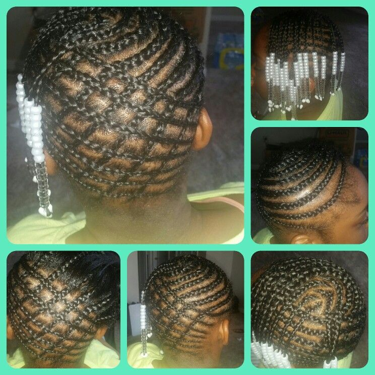 Pineapple Style Braids And Beads Toddler Hairstyles Girl Braid Styles Braids With Beads