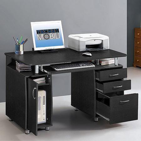 Techni Mobili Super Storage Computer Desk Espresso Walmart Com Desk Storage Office Furniture Online Office Workstations