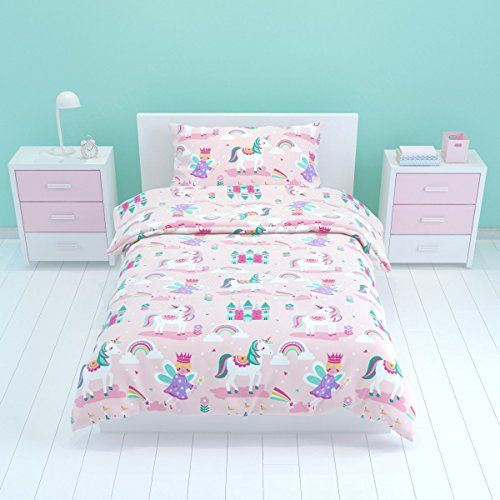 from bloomsbury mill magic unicorn fairy princess u0026 enchanted castle kids bedding set