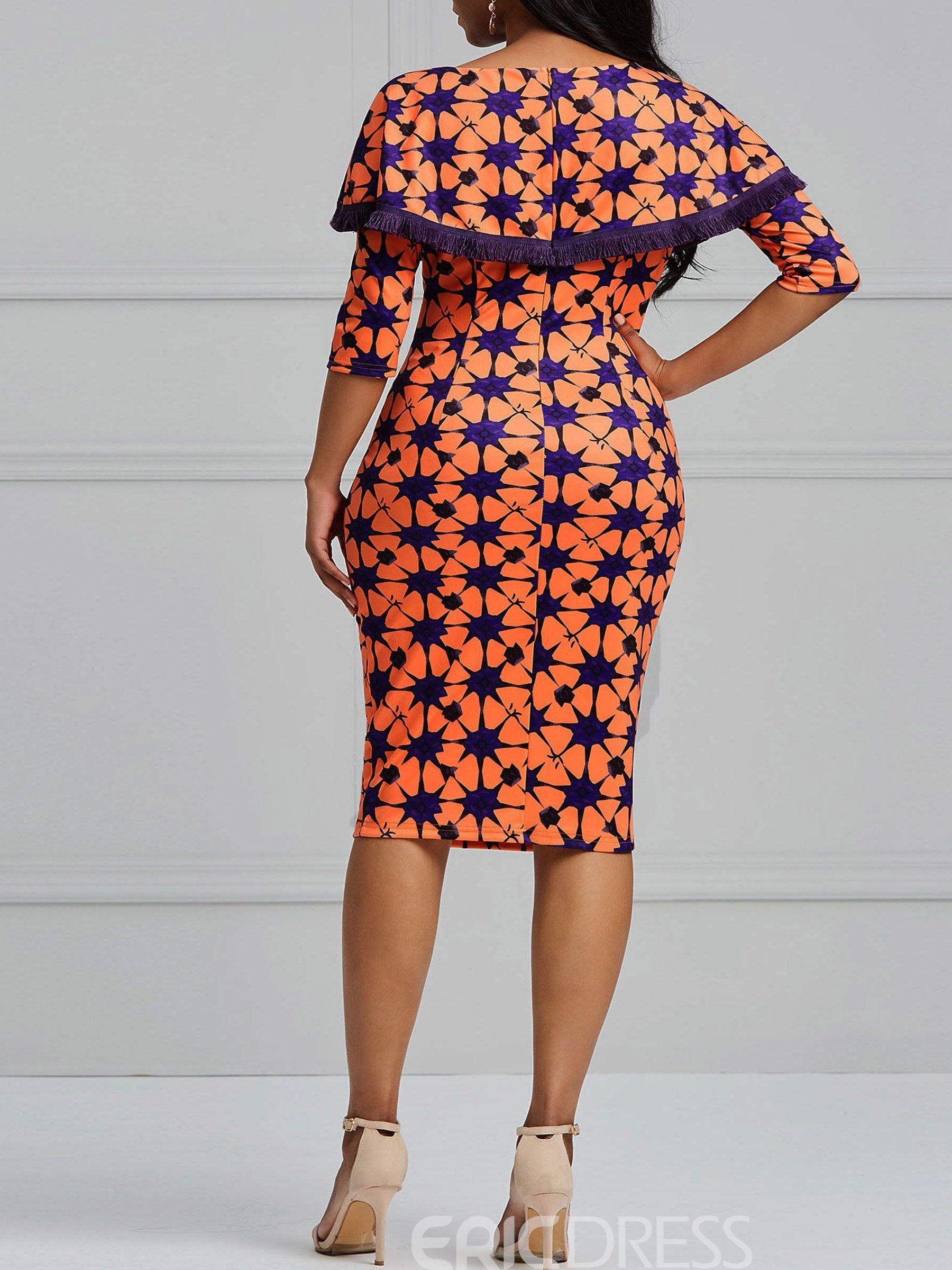 c47d3cfe5 Ericdress Bodycon Geometric Print Women's Dress | African dress in ...