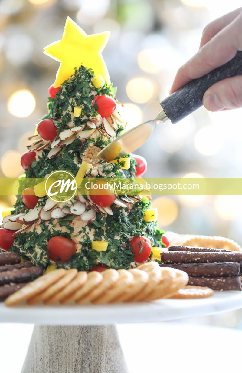A Festive Christmas Tree Cheese Ball Appetizer Recipe Mouthwatering Christmas Cake Recipes From Holiday Appetizers Christmas Recipes Appetizers Christmas Food