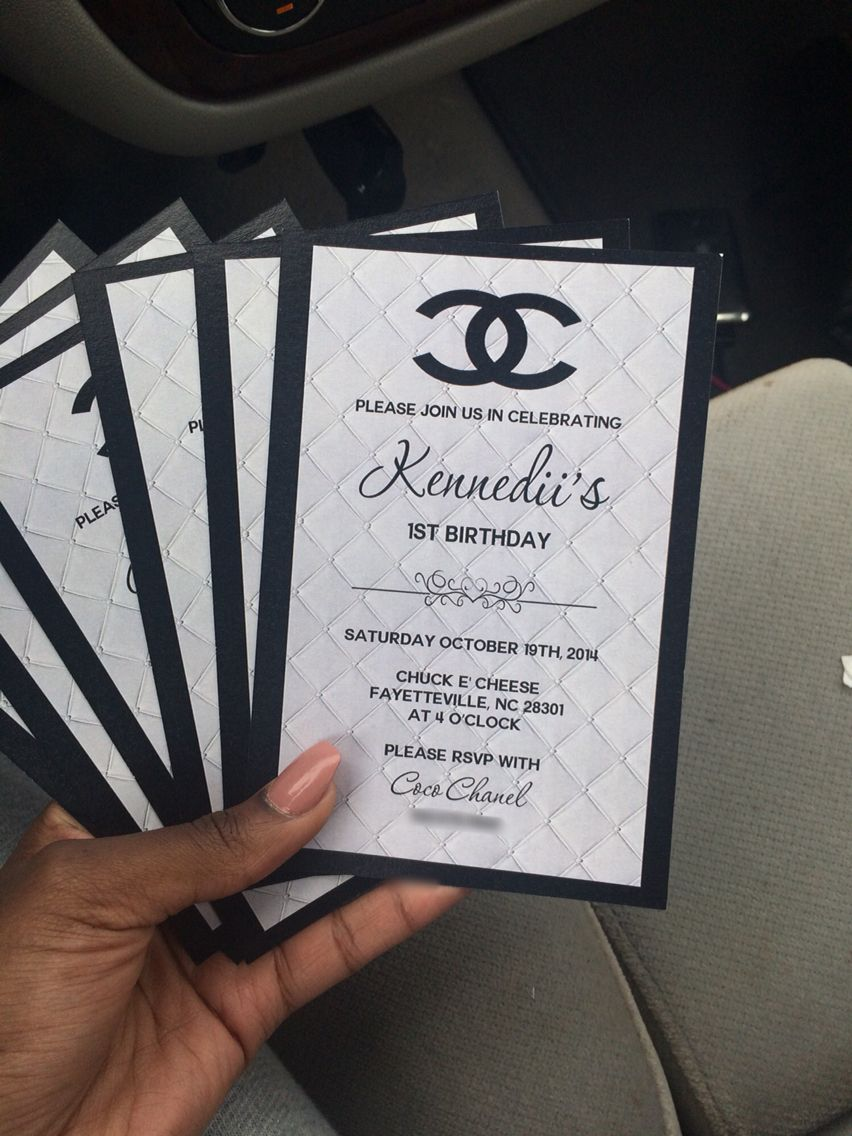 Chanel birthday invitations party details pinterest - Geburtstagsideen 50 ...