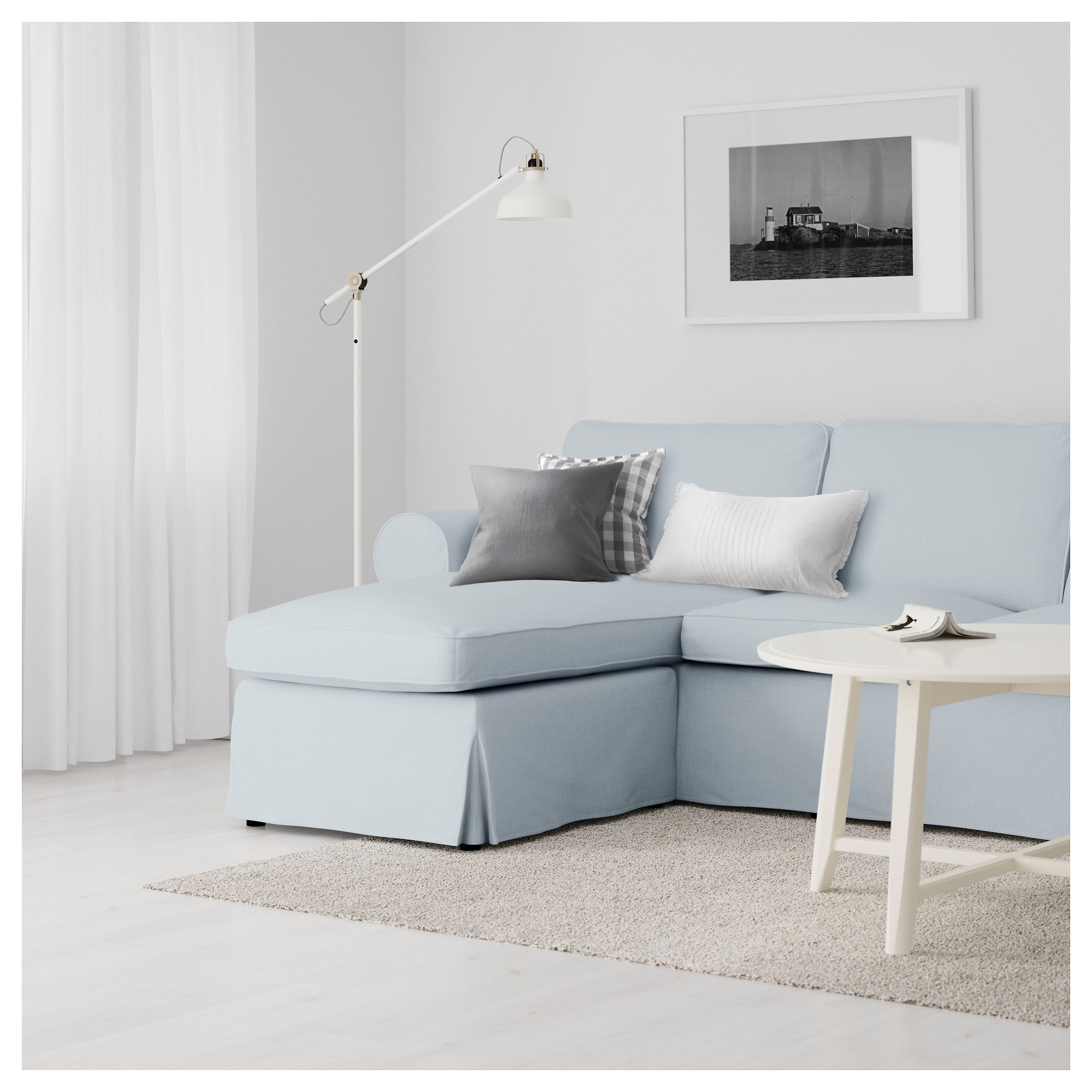 Ektorp Sofa From Ikea Ektorp Sofa With Chaise Nordvalla Light Blue Ikea For The