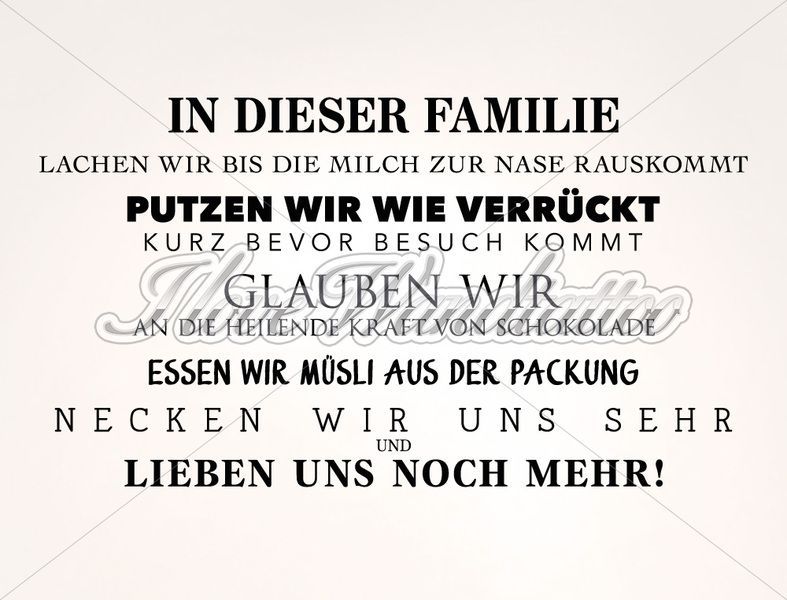 wandtattoo spruch familienregeln mit unseren hochwertigen wandtattoos kannst du einfach. Black Bedroom Furniture Sets. Home Design Ideas
