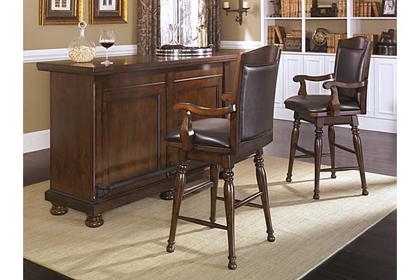 The Porter Bar From Ashley Furniture Homestore The Warm Rustic Beauty Of The Porter
