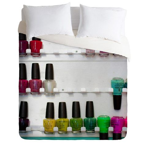 DENY Designs Home Accessories   Bird Wanna Whistle Nail Polish Duvet Cover